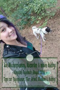 Hund Studium Arbeit Hobbies Tag Woche planen-Tierblog Rabaukenbande Tipps Ratschlage fuer Wochengestaltung Tagesplanung trotz Stress Zeit fuer Hund Katze