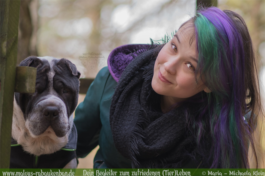 Team/Vorstellung der Rabaukenbande-Bloggerin Malou & Shar Pei Kingston